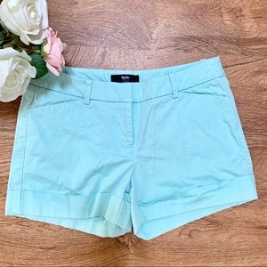 Mossimo Flat Front Shorts Mint Green Size 4